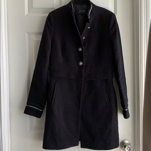Zara Jackets & Coats - Zara Military Coat Mandarin Collar Black